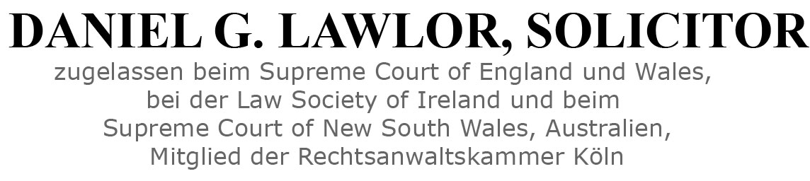 Daniel G. Lawlor Solicitor